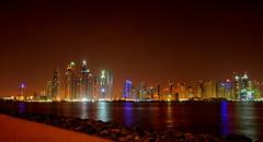 DUBAI EUA (adam_saffoury) Tags: sea summer sky night dubai shoot towers clear eua 2016 reflix