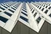 Zigzag (Jan van der Wolf) Tags: blue windows white lines architecture blauw perspective delft ramen wit zigzag architectuur sawtooth lijnen gevel frogperspective reptition perspectief herhaling kikvorsperspectief dezwartehond zaagtand zaagtandgevel map138142v studentwoningen