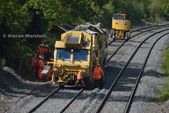 781 at Straboe, 6/6/15 (hurricanemk1c) Tags: irish train rail railway trains railways irishrail pwd portlaoise 781 2015 iarnrd ireann ballastcleaner iarnrdireann plasserandtheurer straboe
