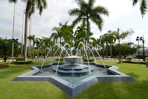 Water feature shaped in typical Islamic geometry - Jame' Asri Sultan Hassanal Bolkiah