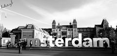 Amsterdam - Holanda (Cuernavaca, Morelos Mexico) Tags: bw white black holland byn blanco amsterdam rio canon eos rebel am europa negro holanda amstel paises bajos i t5i