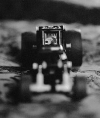 driver (ntrsrkl) Tags: blackandwhite bw macro film car 30 canon eos diy lego sigma delta driver 3200 ilford 70mm