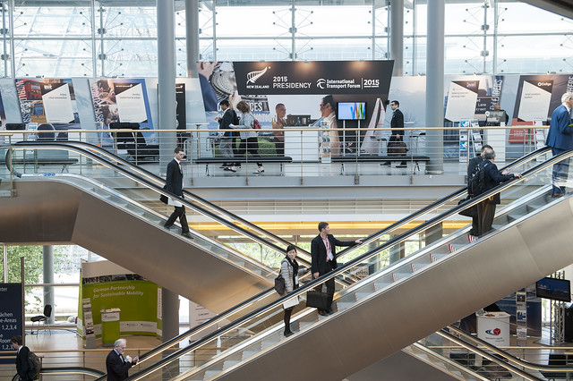 Attendees arriving at the 2015 Exhibition