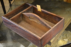 "Mahogany Tool/Cutlery Box, E. 19th c. • <a style=""font-size:0.8em;"" href=""http://www.flickr.com/photos/51721355@N02/18461118062/"" target=""_blank"">View on Flickr</a>"