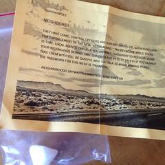 Neighborhood Skywatch Commitee (artnoose) Tags: found berkeley flyer neighborhood committee wingnut skywatch truthers