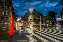 Szczecin (nightmareck) Tags: summer rain twilight europa europe fuji dusk poland polska handheld fujifilm bluehour fujinon szczecin deszcz lato pancakelens xe1 zmierzch apsc zachodniopomorskie mirrorless xtrans xmount xf18mm xf18mmf20r bezlusterkowiec owietlenieledowe owietlenieled