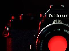 1978 nikon fm (johnsinclair8888) Tags: camera old red portrait stilllife macro slr film analog vintage 50mm nikon 1978 ttl redlight fm sigma105 nikonfm nikond750