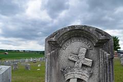 Rest, Sweet Rest (MTSOfan) Tags: cemetery death cross headstone rest crown symbols gravemarker niantic sepennsylvania