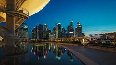 Twilight (elenaleong) Tags: skyline reflections twilight singapore cityscape nightscape le bluehour mbs leong marinabay elenaleong baysingaporeelena
