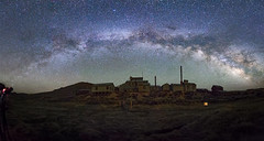 The Milky Way over Bodie Ghost Town's Standard Mill (Dave Toussaint (www.photographersnature.com)) Tags: californiahistoricallandmar bridgeport monocity wildwest boomtown standardmill night wideangle bunkerhillmine stampmill sierranevada monocounty statehistoricpark monobasin bodiedistrict gold silver building historic old amazing stitch panorama panoramic bodieghosttown bodiefoundation milkyway sky star galaxy google getty explore interesting interestingness photoshopcc creativecloud adobe topazlabs adjust denoise norcal easternsierra northerncalifornia california ca usa nature travel landscape canon 5dmarkiii photo photographersnaturecom photographer picture 2015 june davetoussaint