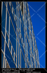 Office buildings (__Viledevil__) Tags: life city blue sky urban espaa cloud color reflection building window glass colors metal architecture modern facade silver outdoors office europe downtown day exterior turquoise district steel nobody scene structure architectural business styles cdiz financial built feature descriptive