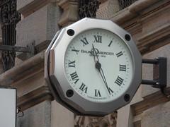 Via Giacomo Luvini, Lugano - clock (ell brown) Tags: lugano switzerland ticino italianlakedistrict lakelugano lagodilugano glaciallake luganocentro clock viagiacomoluvini