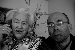 communication (Max D. Machy) Tags: easter couple call phone age generations oldpeople optimism doubleportrait