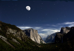yosemite by moonlight for printing (andyantipin) Tags: moonlight yosemite el capitan landscape nighttime mountains blue rugged