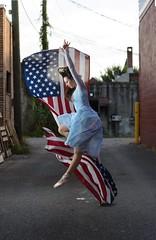 Dance Flag Composite (priceisright2293) Tags: portrait ballet composite america dance model ballerina flag dancer strobes strobist nikond600 paulcbuffeinstein nikkor85mm14g