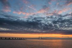 Sunset Sky over the Bridge (Infomastern) Tags: bridge sunset sea water bro malm vatten hav solnedgng sibbarp resundsbron geolocation geocity camera:make=canon exif:make=canon geocountry exif:focallength=18mm geostate exif:lens=efs18200mmf3556is exif:aperture=56 exif:isospeed=100 camera:model=canoneos760d exif:model=canoneos760d