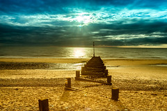 Hunstanton beach groynes, Norfolk, UK (4) (Nick Bowman1) Tags: uk england beach unitedkingdom norfolk gb hunstanton groynes leebigstopper sonya99 sonyzeissvariosonnar1635 lee03softndgraduatedfilter