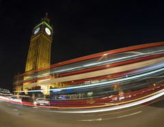 Rush Hour (Wormsmeat) Tags: bigben london londonbus clock tower bell night parliamentsquare housesofparliament lords commons palaceofwestminster livecomposite olympus omdem5mk2