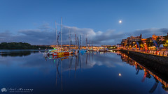 The Clipper Fleet. (MNM Photography 2014) Tags: clipperroundtheworldyachtrace clipperyachts yacht yachtrace foylemarina riverfoyle foyleport derry~londonderry~doire derry~londonderry~doireclipper derry lderry londonderry doire moon moonlight reflections queensquay northernireland bluehour blueskies water river longexposure canon canon6d tamron tamronsp1530mmf28divcusd nightphotography nightscape night foylemaritimefestival maritime festival nightsbestimages