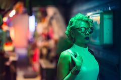 Hidden Alleyway (Jon Siegel) Tags: nikon nikkor d810 85mm 14 nikon85mmf14 85mmf14 woman girl modeling model beauty beautiful portrait sunglasses reflections glow ambient alleyway alley night evening shinjuku tokyo japan japanese