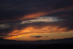 Summer nights (Nuria Ocaa) Tags: sunset sky clouds 50mm 60d landscape scene night mountain orange orangesky silhouette shape view emporda altemporda summer summertime sunsetsky