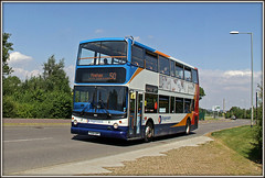 18152, Swan Valley (Jason 87030) Tags: swanvalley scumvalley eeexpress northampton 50 workers dennis trident 18152 july 2016 alx4000 wirral northants northamptonshire sunny uptonvalleyway px04dpf doubledecker roadside lens scene camera greatbritain image portfolio shot picture