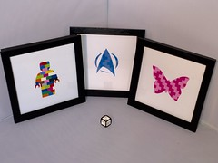 Silhouette frames (if i were a brick) Tags: lego ifiwereabrick miniland afol moc gift silhouette butterfly star trek