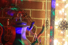 Boho Decor Rave Lanterns (blackunigryphon) Tags: balconydecor patio bohemian bohochic bohostyle bohodecor lantern lanterns disco rave raver raving lights ledlights dreamcatcher buddha stones jade malabeads dslr