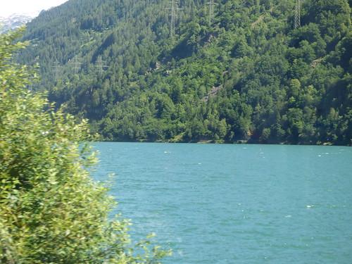 Bernina Express - Lake Poschiavo - Miralago Station