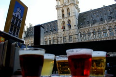 Belgium beer at Grand Place (Kristin_Grace) Tags: belgium beer grand place brussels grote markt central square biere