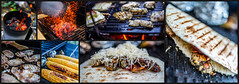 Quesadilla on grill (brenkee) Tags: grill bbq food barbecue chicken tortilla bacon cheese corn fig potato dinner charcoal fire 5dsr sigma art 35mm 14 montage canon