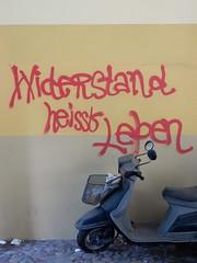 Widerstand heit Leben / Resistance means living (aestheticsofcrisis) Tags: street art urban intervention streetart urbanart guerillaart graffiti graffity berlin germany europe kreuzberg xberg