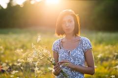 Sunny (Ash and Debris) Tags: sunshine sun country shining sunsey nature dress girl beauty dusk sunlight shine flowers field light