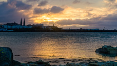 Cloudy Sunset DSC_0298-2 (John Hickey - fotosbyjohnh) Tags: 2016 august2016 fortyfoot sunset irishsea sandycove dunlaoghaire clouds reflections outdoor seaside seascape coast