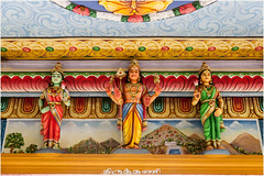 Details . The Temple (:: Blende 22 ::) Tags: trees pamplemousses tree bume baum blauerhimmel canoneos5dmarkii ef2470f28liiusm mauritius maskarenen sky sun temple hinduism color colorful roof figure clouds cloudy bewlkt hinduismus street religion