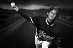 Bobby on the Highway (richham14 - (Mr Cubs}) Tags: richham14 richardhammond outdoors bw blackwhite baseball