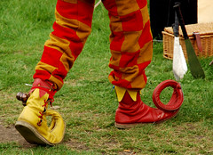150502d40x0011 (Grumpy Old Tina 1960) Tags: red feet yellow shoes jester may fair mordenhallpark