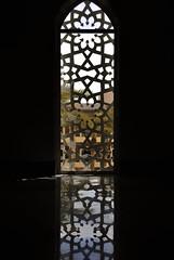 Symmetrical Window (Ameer F. Jasmin) Tags: trees reflection patterns deep mosque palm iso dome saudi arabia kaust