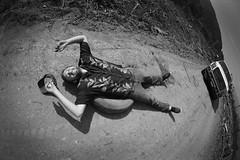 JONES LAKE (MURRAY VISUALS) Tags: road trees people blackandwhite white lake black mountains art ford texture fog truck landscape person nikon scenery peace angle wideangle scene fisheye land rough dust d3200