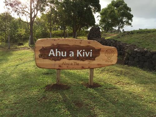 Centro arqueológico Ahu Akivi.