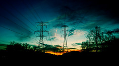 Sunrise, Michigan (Crissy Teena) Tags: sunrise powerlines