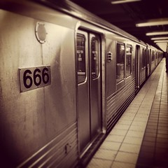 Train to Hell. Now boarding. #hell #train #666 #theroadtohell #badcommute #satan #satanisamotorcar #nowboarding #subway #underground #underworld #devil #devilish #gothart #goth #dreams #blackandwhite #monotone #metal #urban #city #car #afterlife #death #h (artofmarabelle) Tags: cameraphone city urban blackandwhite philadelphia car metal train underground subway square death hell goth 666 monotone squareformat dreams satan devil underworld devilish broadstreet afterlife gothart moneyshot heavenandhell earlybird theroadtohell badcommute nowboarding commutinghell iphoneography instagramapp uploaded:by=instagram foursquare:venue=4d1c9b51763fb1f7a5208c66 artofmarabelle satanismymotorcar