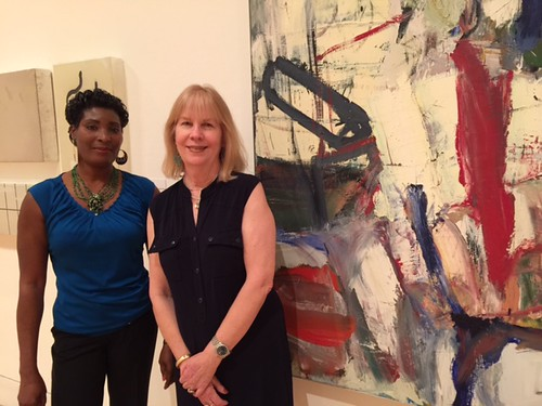 Marie Milhomme and Janie Graulich, visitors services of the Lowe museum enjoying the last days of the Ruwich collection displayed at the mus