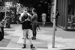 Good news, early birds (TheodoreWLee) Tags: dublin ireland 1855mm dawsonstreet blackandwhite fujifilm xpro2 street streetphotography bw fuji mcds macdonalds glasses