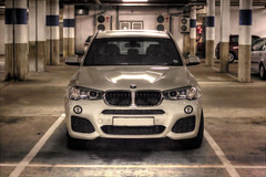 BMW basement. (Arranion) Tags: white car canon eos iso3200 50mm high automobile garage basement iso bmw vehicle motor stm f18 noise suv range hdr fifty nifty motorcar reduction dinamic 40d
