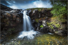 Waterfall In Colour (Jmalls) Tags: canon1dmk4 jmsphotography may2016 mull naturalhistory nature jmalleysmith jeremymalleysmith tiltshiftlens waterfall landscape cloudy flowingwater usingleefilters