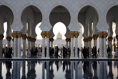 Sh. Zayed Grand Mosque (dmjames58) Tags: travel colour architecture reflections uae mosque abudhabi leicam240