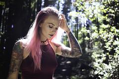 Jesika - Mt. Tam (Eric Molyneaux) Tags: portrait girl tattoo tattoos coloredhair pinkhair pink mttam outdoors nature sony a7ii 35mm lighting aliceinwonderland makeup