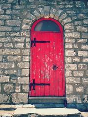 ~Red door<>Porte rouge~ (France-) Tags: door red lighthouse toronto ontario canada wall porte mur phare 97 torontoislands gibraltarpointlighthouse