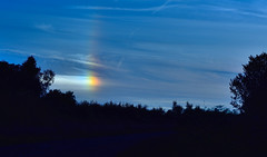 Sundog at Dusk (tsbl2000) Tags: sunset nikond810 nikon2870 weather weatherphenomenon sundog parhelion